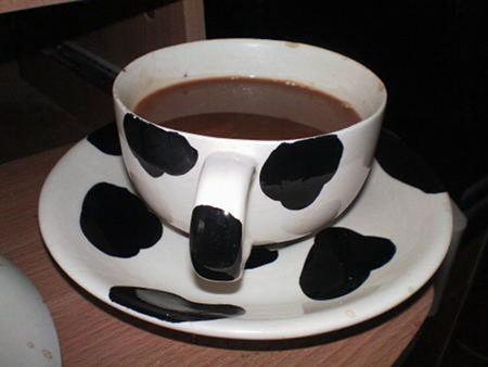 Foto einer großen Tasse Kaffee