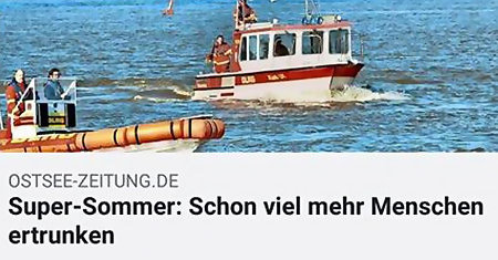 OSTSEE-ZEITUNG.DE: Super-Sommer: Schon viel mehr Menschen ertrunken