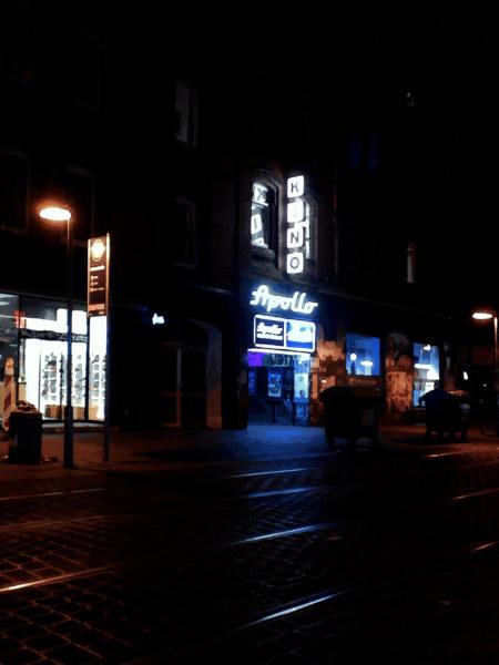 Stark digital bearbeitetes Foto des Apollo-Kinos, Limmerstraße, Hannover-Linden