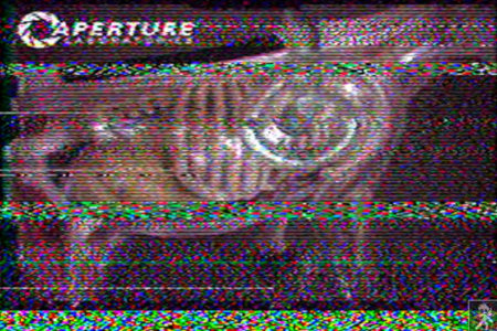 Kryptisches codiertes Bild aus Portal 2