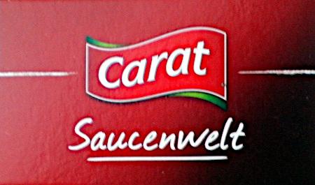Detail einer Verpackung: Carat Saucenwelt