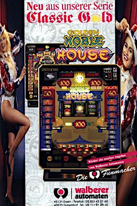 Werbung für das Geldspielgerät Golden Noble House aus dem Jahr 1998
