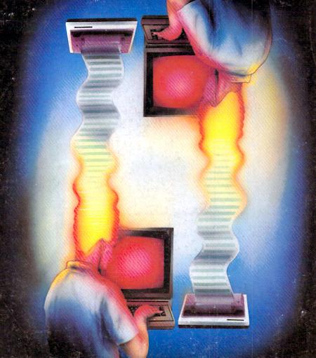 Motiv der Titelseite des Computermagazins Ahoy!, Jahrgang 1984, sechste Ausgabe