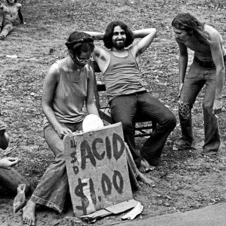 LSD-Verkäufer beim Woodstock-Festival 1969
