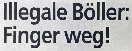 Überschrift zu einem Zeitungsartikel -- Illegale Böller: Finger weg