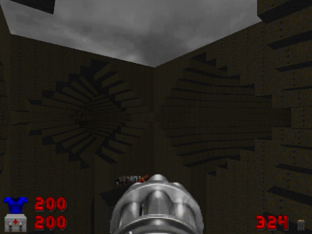 Screenshot Map 05 'Echoes' des DooM-2-WADs Doom Core