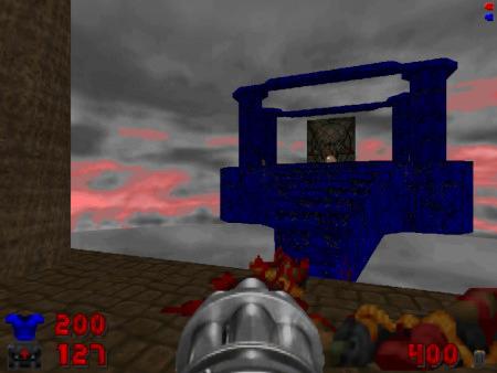 Screenshot Map 05 'Echoes' des DooM-2-WADs Doom Core