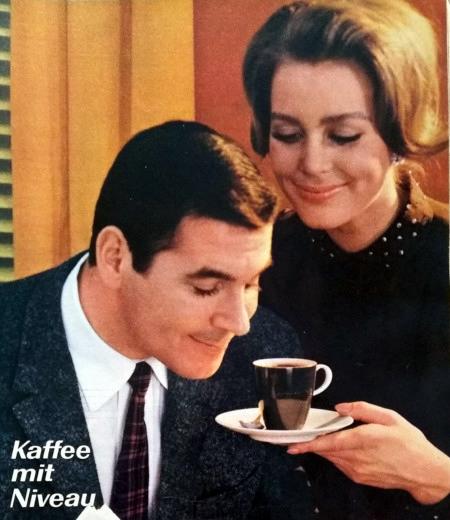 Werbung für Jacobs-Kaffee aus dem Jahr 1965: Kaffee mit Niveau.