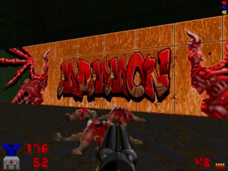 Graffito in einer Map: MAMMON