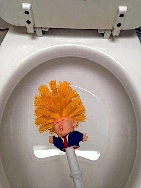 Klobürste Donald Trump