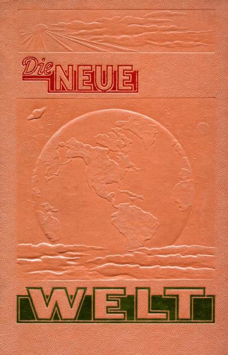 Einband des Buches 'Die neue Welt' der Zeugen Jehovas