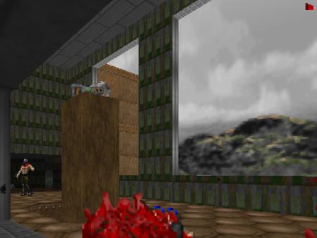 Screenshot DooM: Kettensäge liegt in einem geheimen Raum bereit