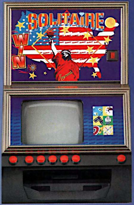 Extrem hässliches Playmont-Bildschirmspielgerät Solitaire-Win aus dem Jahr 1999