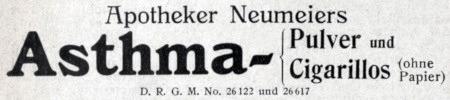 Apotheker Neumeiers Asthma- Pulver und Cigarillos (ohne Papier)