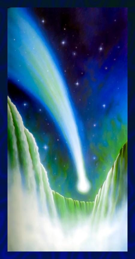 Stark nachbearbeitete Illustration aus dem 'Offenbarungsbuch' der Zeugen Jehovas