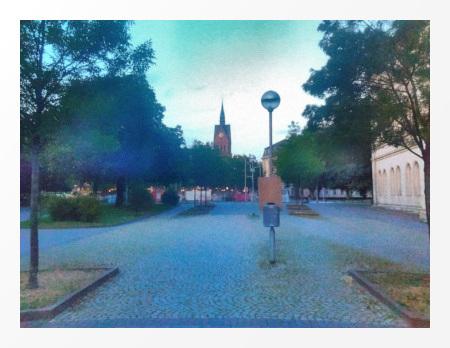 Marktkirche in Hannover, von der Calenberger Neustadt aus gesehen