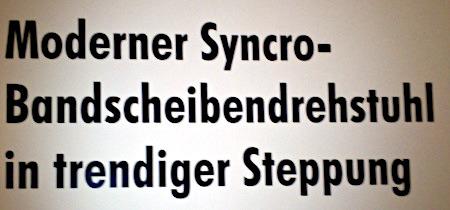 Moderner Syncro-Bandscheibendrehstuhl in trendiger Steppung