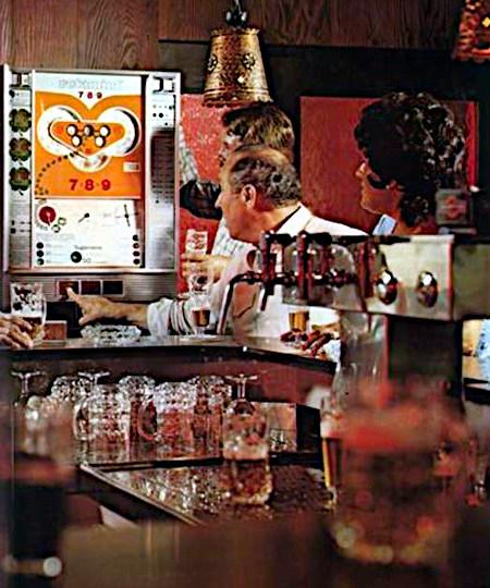 An Aufsteller gerichtete Reklame für das NSM-Geldspielgerät Rotamint 7&8&9 aus dem Jahr 1973