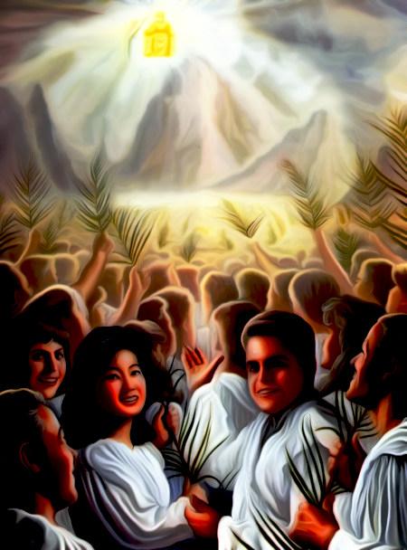 Illustration aus dem Offenbarungsbuch der Zeugen Jehovas