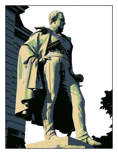 Stark mit Gimp nachbearbeitetes Foto eines Denkmales