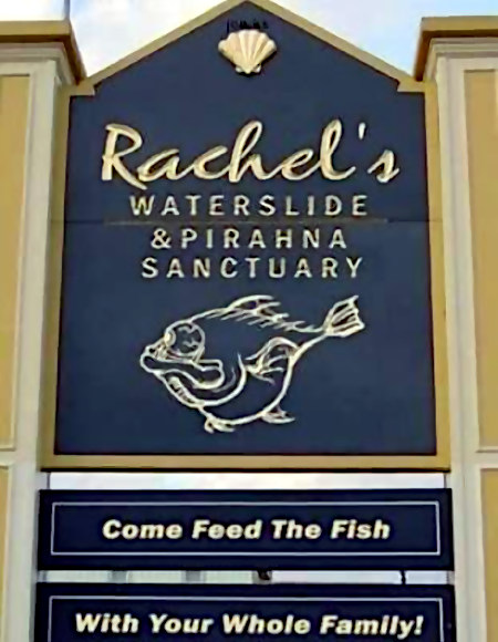 Rachel's Waterslide & Pirahna Sancutuary -- Come Feed The Fish With Your Whole Family!