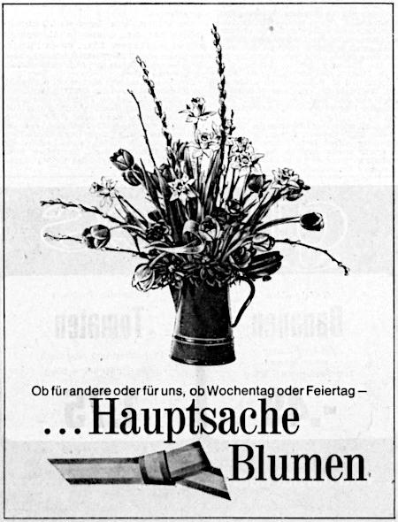 Ob für andere oder für uns, ob Wochentag oder Feiertag – Hauptsache Blumen