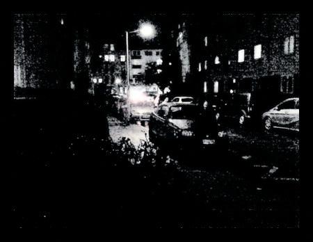 Kalte Nacht -- stark mit Gimp nachbearbeitetes Foto