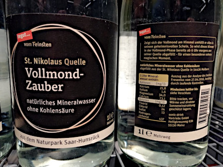 Flasche St. Nikolaus Quelle Vollmond-Zauber
