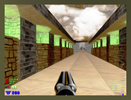Stark mit Gimp nachbearbeiteter Screenshot aus DooM 2 mit dem PWAD NOVA2.WAD