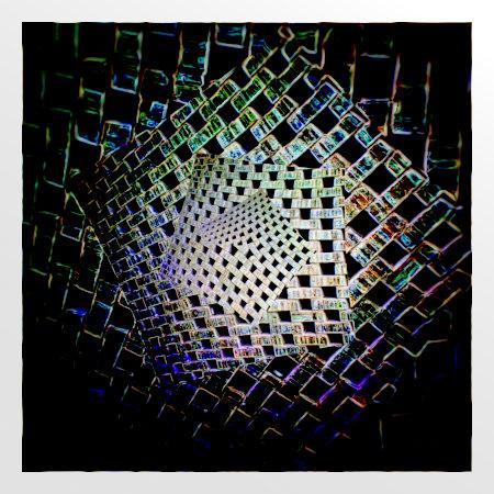 Stark mit Gimp nachbearbeitetes Foto einer Mauer