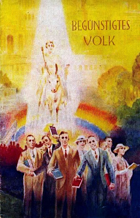 In ihrer Wirkung unbeschreibliche Illustration aus der älteren Literatur der Zeugen Jehovas.