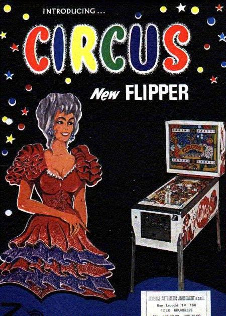 Werbung für den Zaccaria-Flipper 'Circus' aus dem Jahr 1977