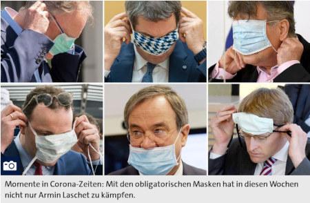 Eine kleine Galerie von Politikern, die sich keine Atemmaske anlegen können