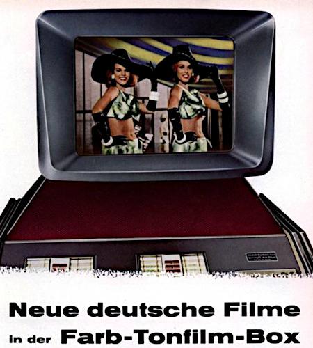 Werbung für einen obskuren Münzautomaten aus dem Jahr 1962 -- Neue deutsche Filme in der Farb-Tonfilm-Box