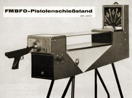 Werbung in einem Fachmagazin für Automatenaufsteller: FMBFO-Pistolenschießstand