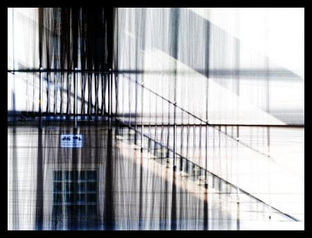 Stark mit Gimp nachbearbeitetes Foto einer Treppe