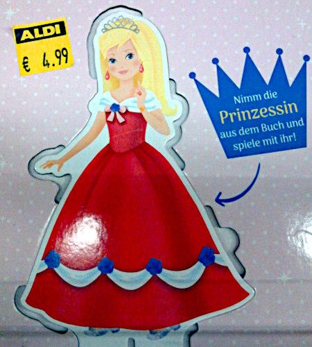 Nimm die Prinzessin aus dem Buch und spiele mit ihr!
