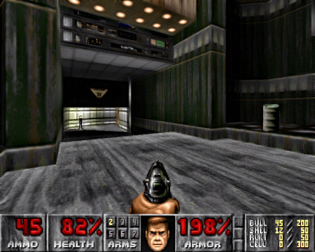 Screenshot DooM mit dem WAD DTWID.wad