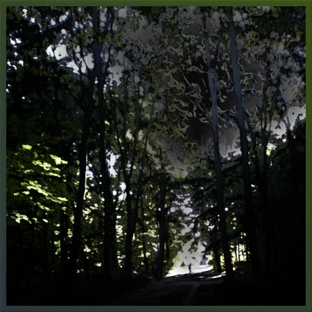 Stark mit Gimp bearbeitetes Foto einer sommerlichen Szene im hannöverschen Stadtwald Eilenriede