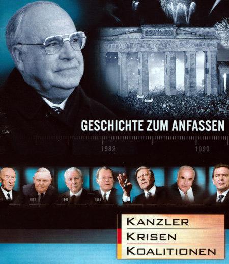 Werbung für eine RTL-Dokumentationsreihe aus dem Jahr 2002: Geschichte zum Anfassen -- Kanzler, Krisen, Koalitionen