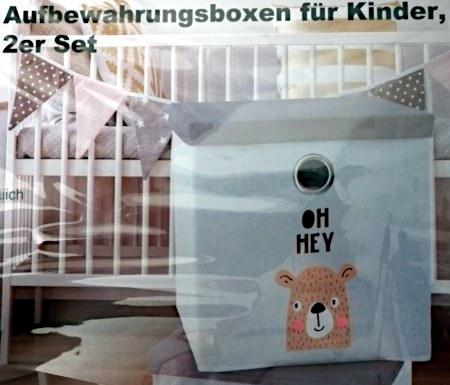 Aufbewahrungsboxen für Kinder, 2er Set