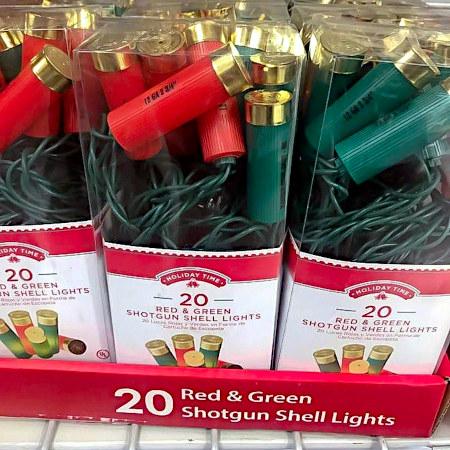 20 Red & Green Shotgun Shell Lights