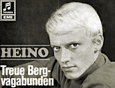 Schallplattenwerbung aus dem Jahr 1968 -- Heino: Treue Bergvagabunden
