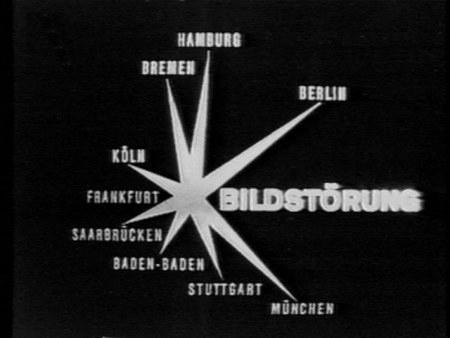 Im Fernsehen gesendete Tafel 'Bildstörung' der ARD aus den Siebziger Jahren