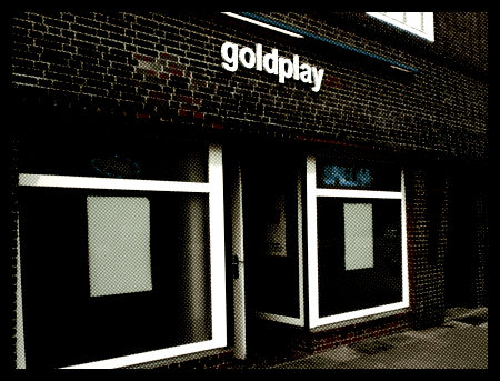 Stark mit Gimp nachbearbeitetes Fotos der Spielhalle 'Goldplay' in der Fössestraße in Hannover-Linden.