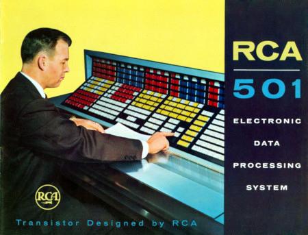 Werbung aus dem Jahr 1958 für den Transistorcomputer RCA 501