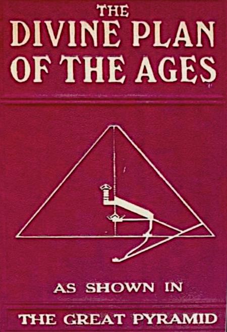 Bucheinband aus den 1920er Jahren: The Divine Plan of The Ages as Shown in The Great Pyramid