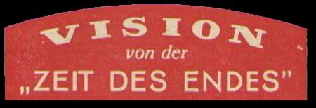 Detail aus einem fundamentalistisch-christlichen Traktat aus den Fünfziger Jahren: Vision von der Zeit des Endes