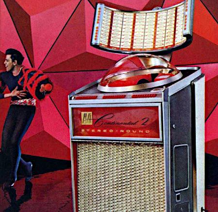 Werbung für eine Musikbox aus dem Jahr 1962