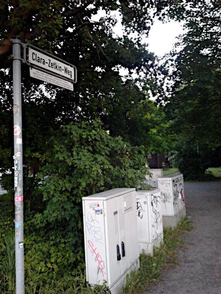 Der Clara-Zetkin-Weg in Hannover